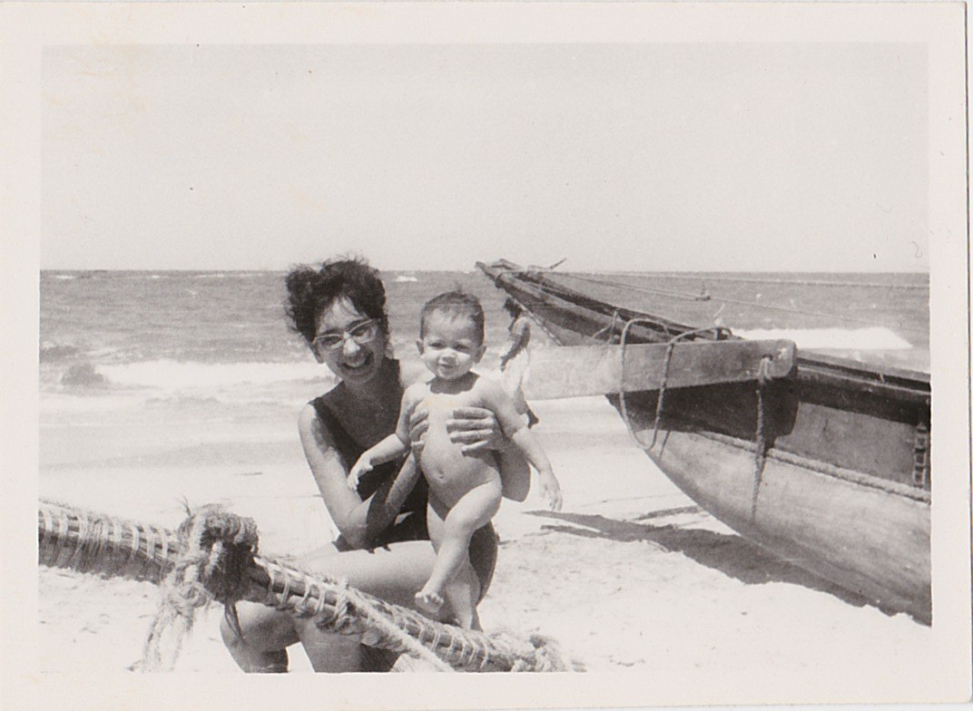 Carmen with Dayanthi at the beach.jpg